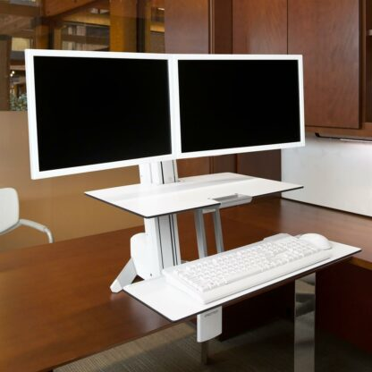 33-349-200 WorkFit-S Dual Sit-Stand White 02