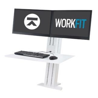33-407-085 WorkFit-SR Dual Monitor White