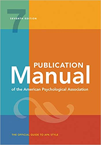Publication Manual of the American Psychological Association / Edition 7