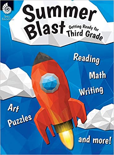 Summer Blast: Getting Ready for Third Grade – Full-Color Workbook for Kids Ages 7-9 – Reading, Writing, Art, and Math Worksheets – Prevent Summer Learning Loss – Parent Tips (Paperback)