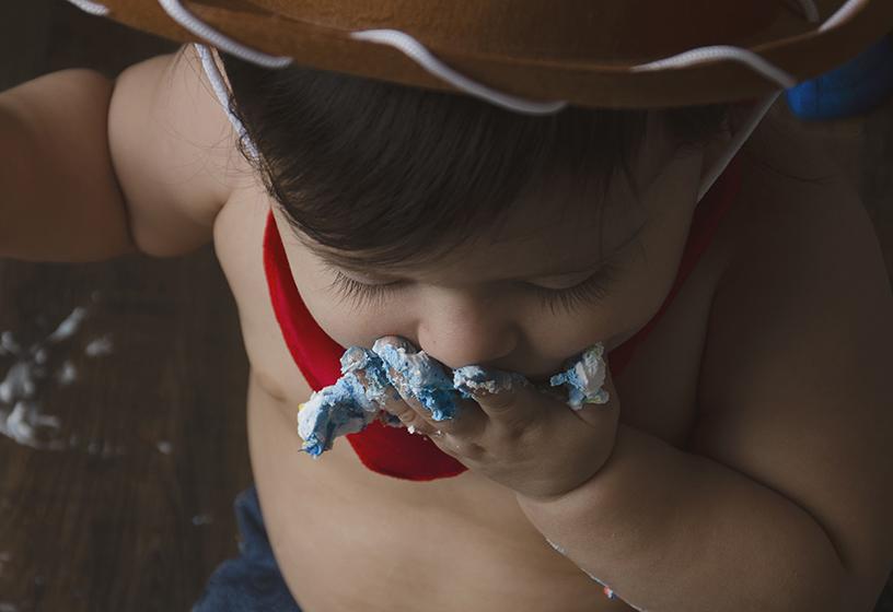 Little Rock, AR Baby Photographer A Beautiful Life Photography| baby cake smash birthday photographer