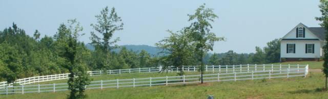 Vinyl Pasture Fence