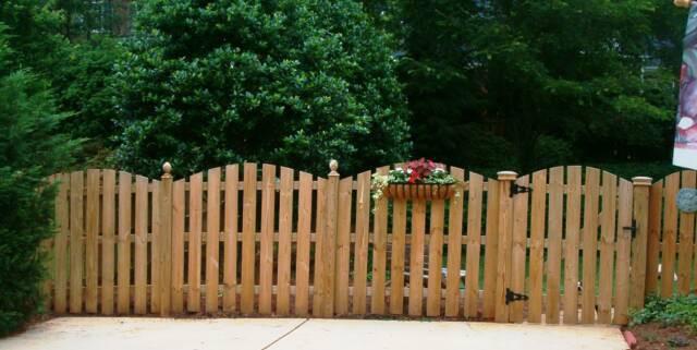 Picket Wood Fence