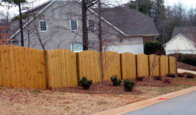 Privacy Fence Wood Privacy Fence Wood Scalloped