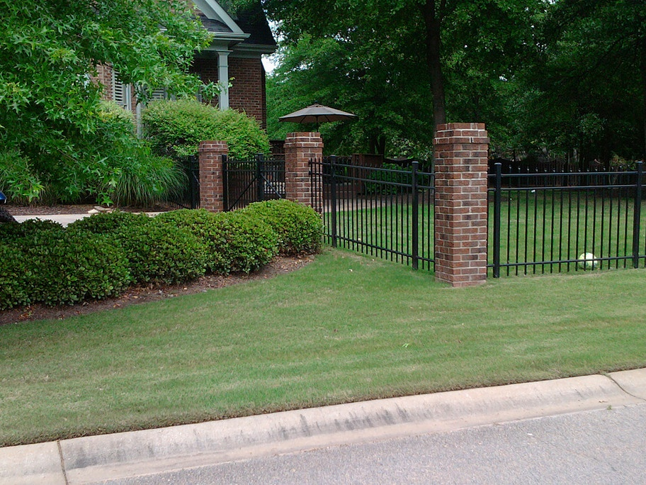 Flat Top Black Aluminum Fence
