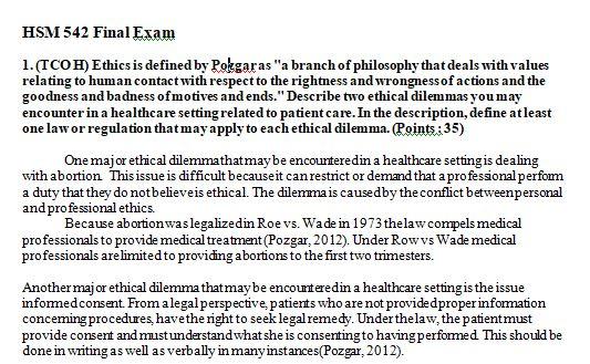 hsm 542 final exam