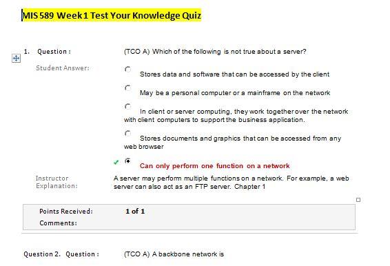 mis 589 week 1 quiz