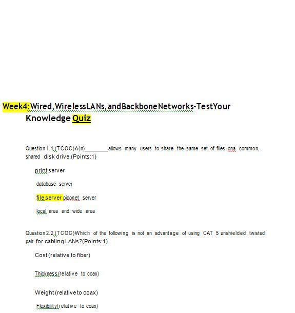 mis 589 week 4 quiz