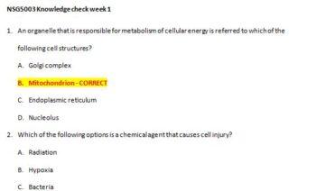 nsg 5003 week 1 quiz