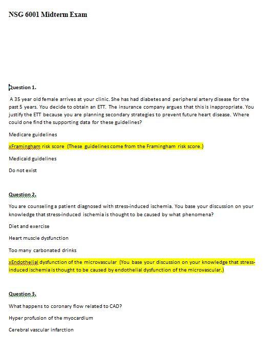 nsg 6001 midterm exam