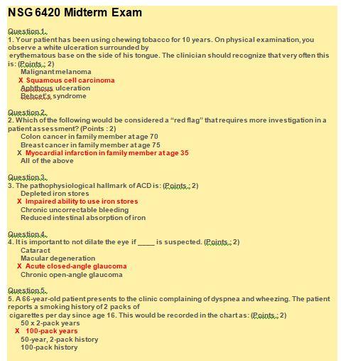 nsg 6420 midterm exam