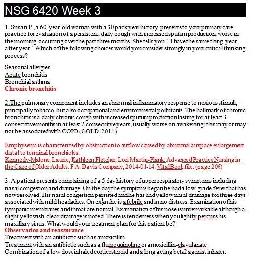 nsg 6420 week 3 quiz answers