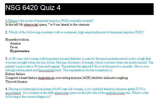 nsg 6420 week 4 quiz