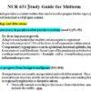 nur 631 midterm exam study guide