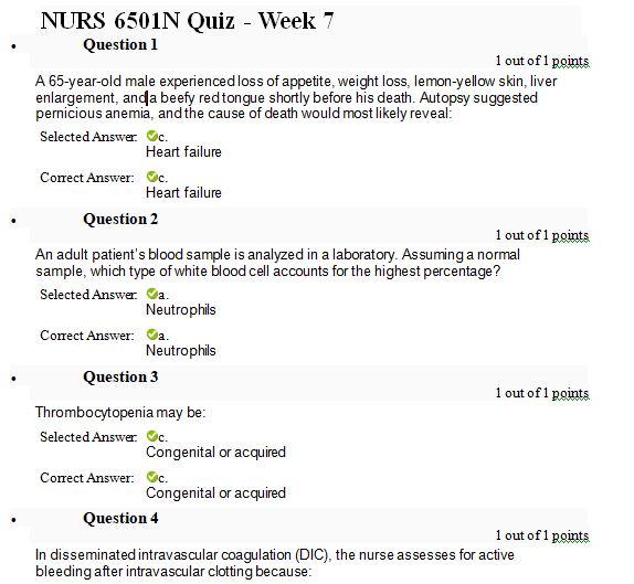 nurs 6501n week 7 quiz