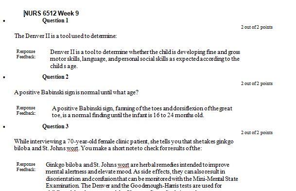 nurs 6512n week 9 quiz
