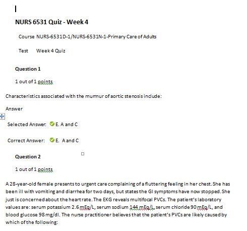 nurs 6531n week 4 quiz