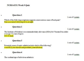 nurs 6531n week 9 quiz 1