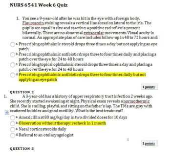 nurs 6541 week 6 quiz