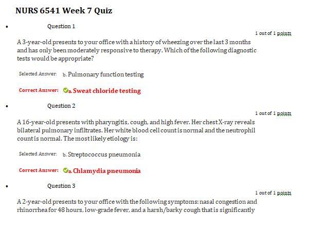 nurs 6541 week 7 qioz