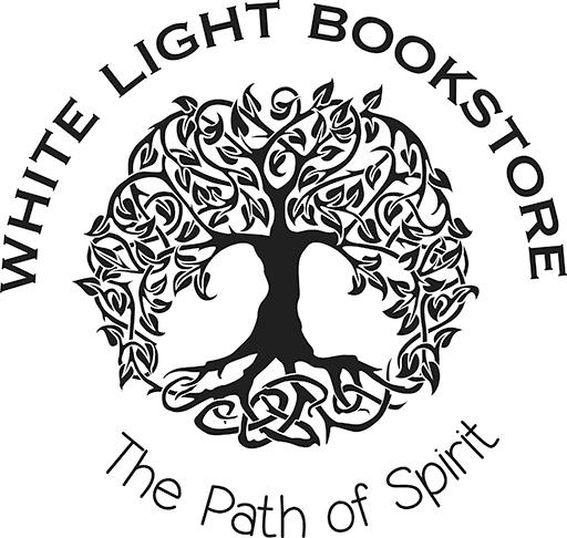 White Light bookstore black and white logo