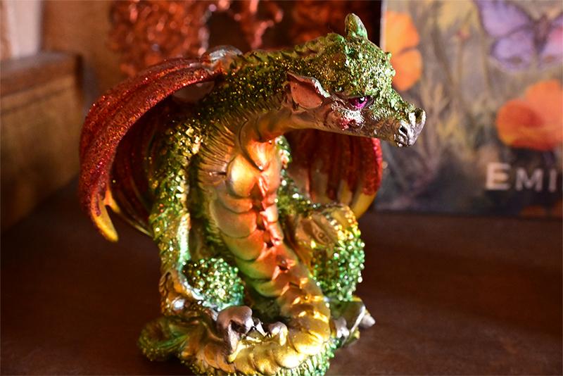 orange and green dragon