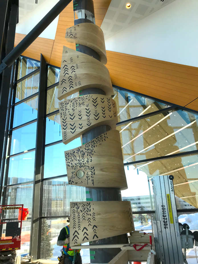 7 Stages of Life Indigenous Cultural Marker - Humber College CTI Building, Toronto, Canada - Brook McIlroy Dave Thomas
