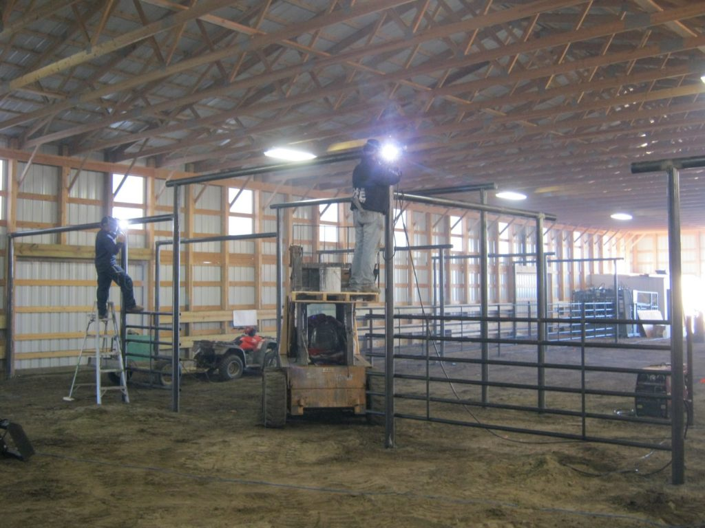 Custom built cattle working facility