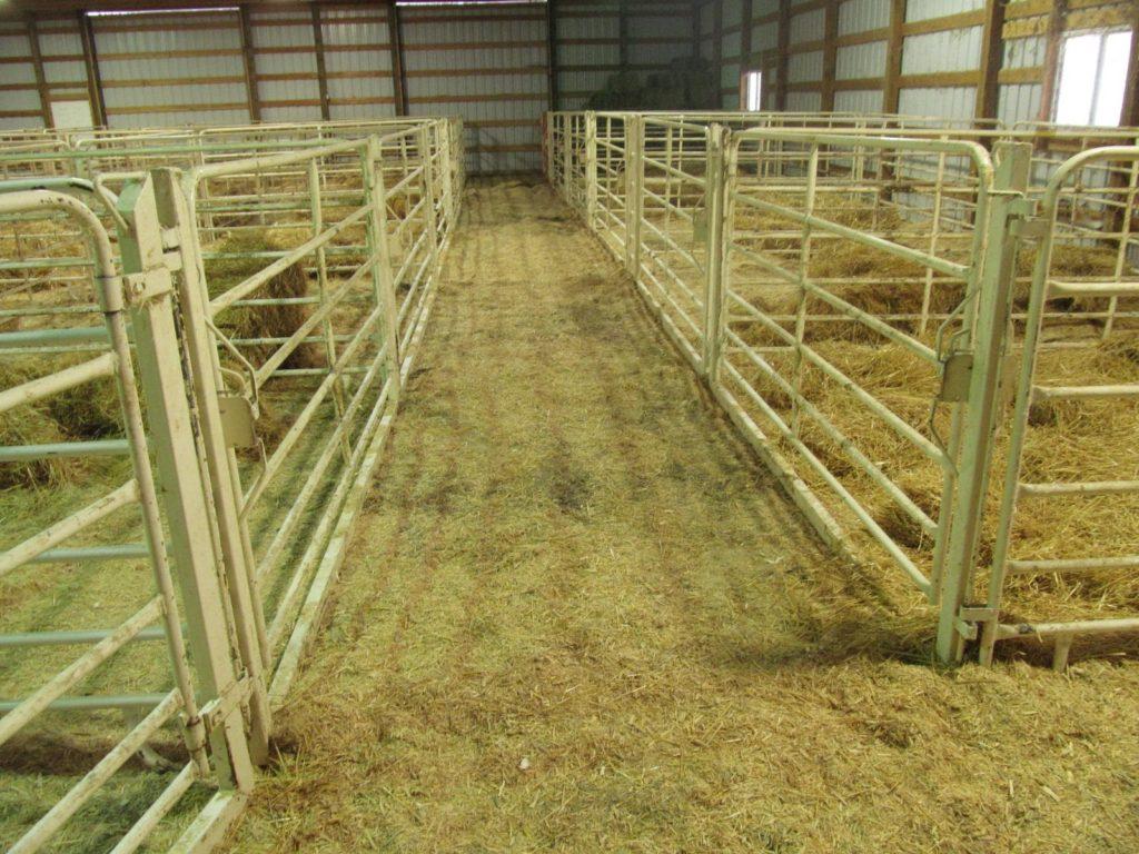 Calving barn made from Daniels panels.