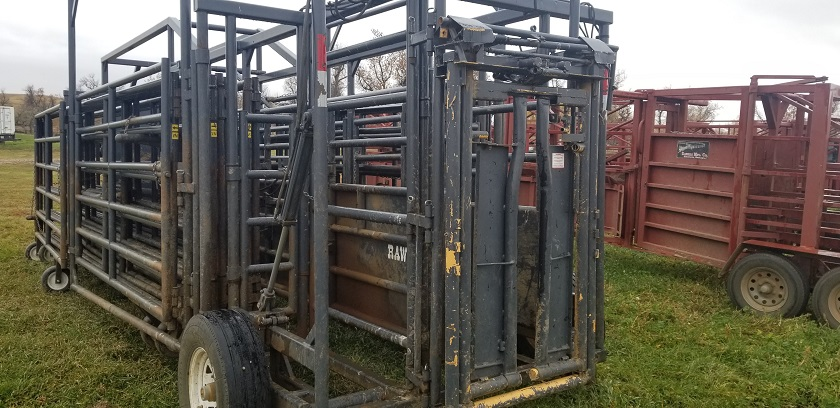 Front of Rawhide Portable Corral