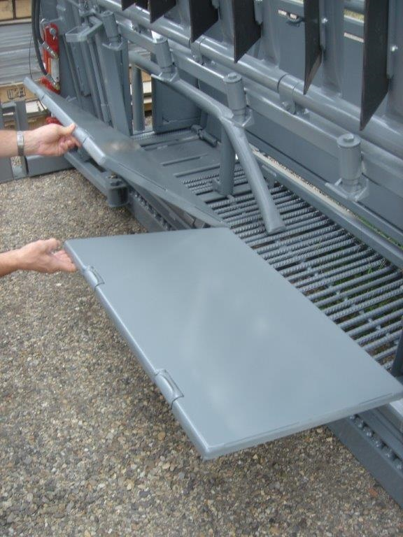 Rebar Floor and Vertical Split Drop Pan