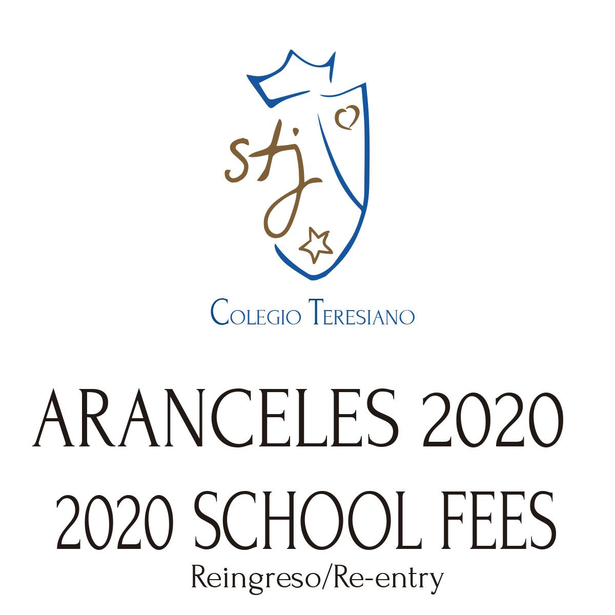 ARANCELES 2020 –  REINGRESO