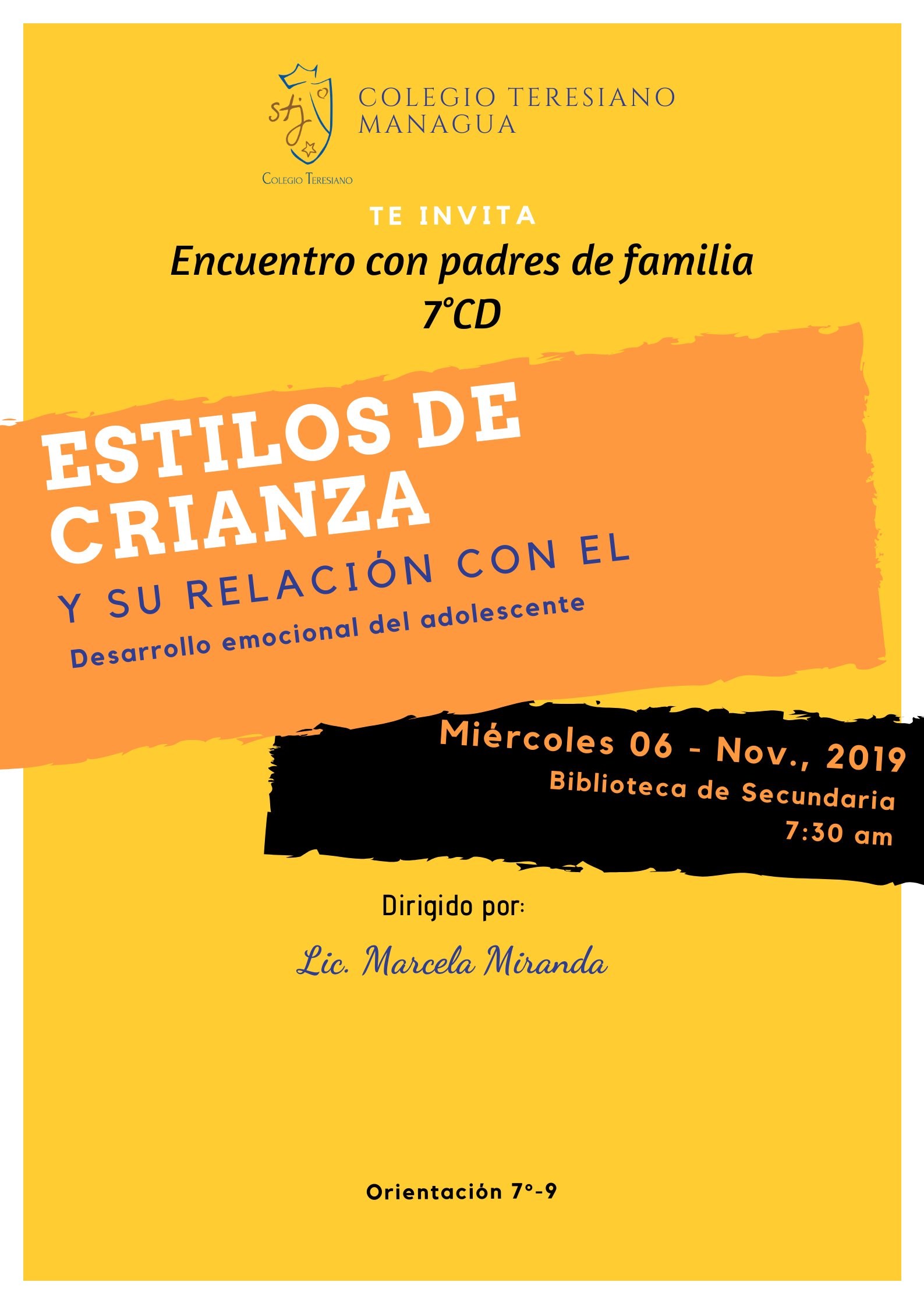 CHARLA SOBRE ESTILOS DE CRIANZA – 7mo.CD