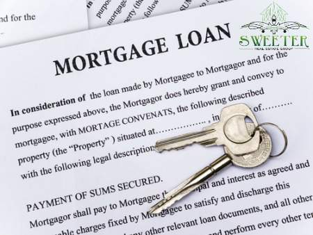 mortgage loan paper with keys