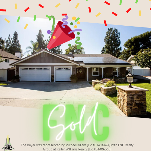 Yorba Linda House Just SOLD!