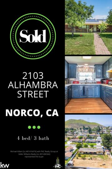 2103 Alhambra Street Norco CAinterior/exterior views