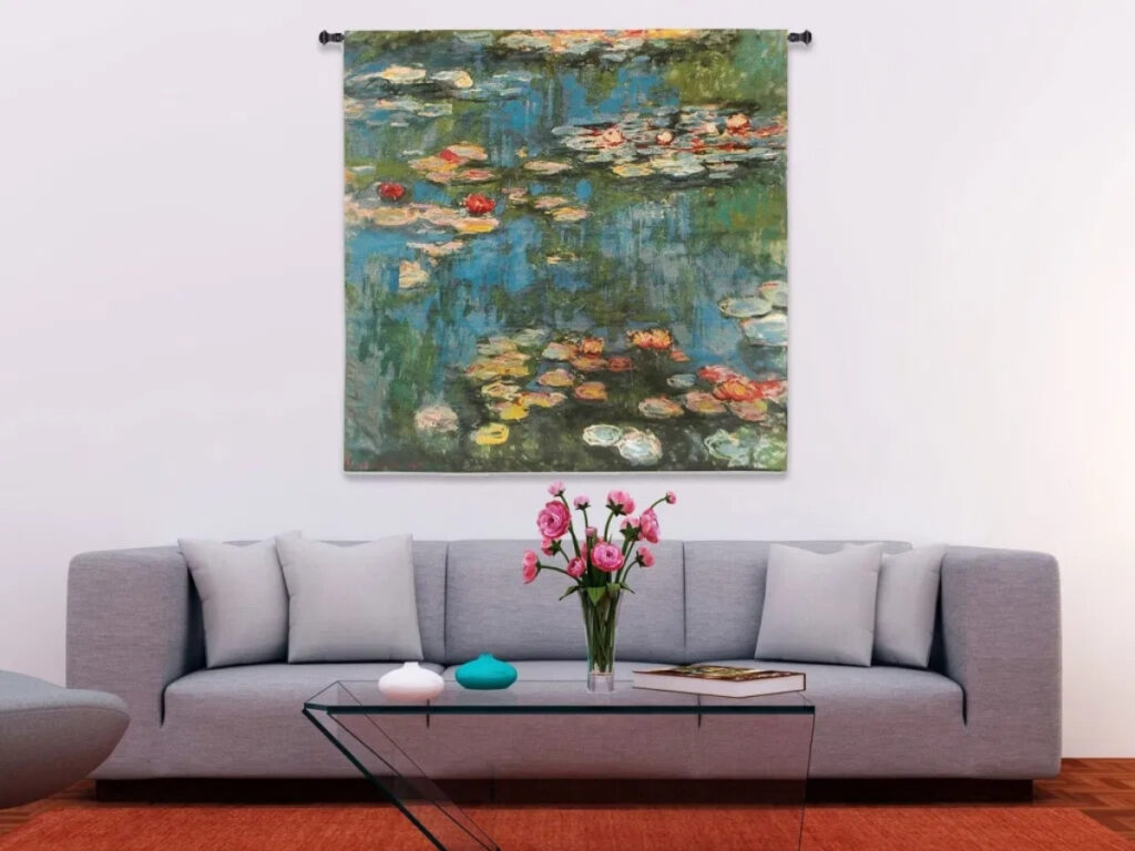 Claude-Monet Water Lilies Tapestry Wall Hanging