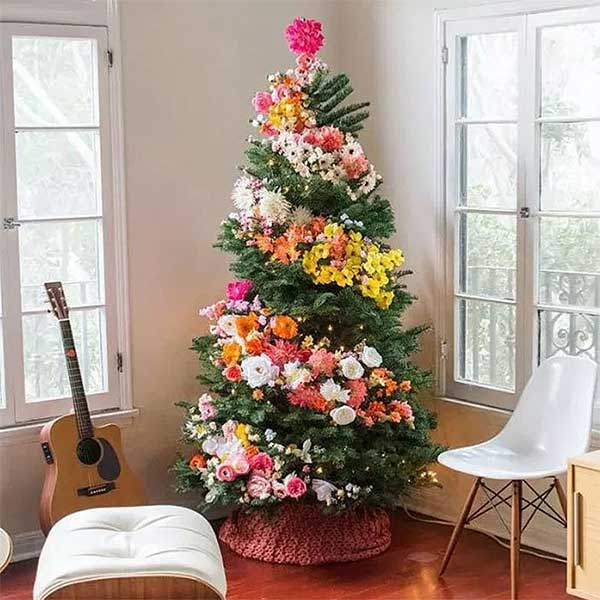 Spring Floral Christmas Tree