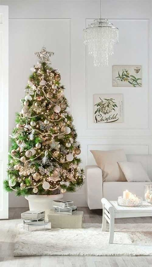 Potted Gold Christmas Tree