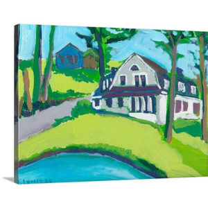 A Country Cottage by Jennifer Lommers Art Print on Canvas