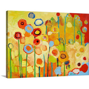 Growing in Yellow No 2 by Jennifer Lommers Art Print on Canvas