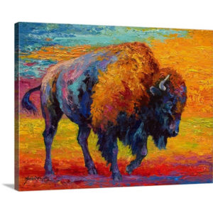Spirit of a Prairie Bison by Marion Rose Art Print on Canvas