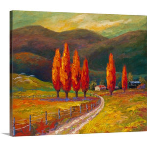Valley Farm by Marion Rose Art Print on Canvas