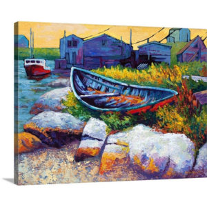 Boat by Marion Rose Art Print on Canvas