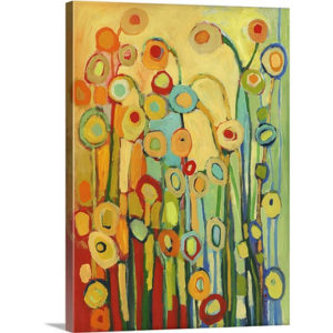 Dance of the Flower Pods by Jennifer Lommers Painting on Canvas