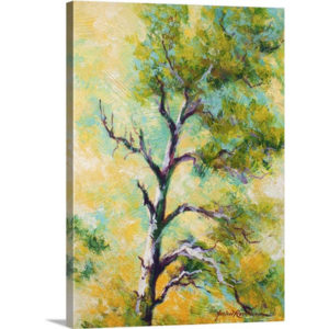 Pine Abstract by Marion Rose Art Print on Canvas