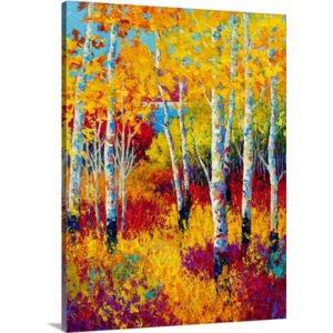 Birch by Marion Rose Art Print on Canvas
