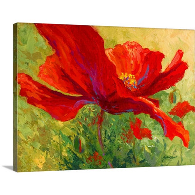 Red Poppy I by Marion Rose Art Print on Canvas