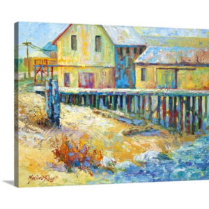 Alert Bay Cannery by Marion Rose Art Print on Canvas