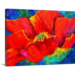 Passion Poppy by Marion Rose Art Print on Canvas